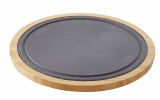 REVOL BASALT,  Liner for round steak plate bamboo