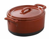REVOL BELLE CUISINE ECLIPSE,  Cocotte with lid, red
