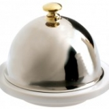 REVOL LES ESSENTIELS, Porcelain Butter dish with stainless steel lid