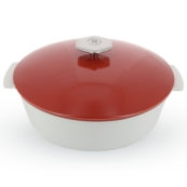 REVOL REVOLUTION 2, Round cocotte, Pepper red